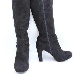 Impo Stretch Women's Black Heeled Boots 6.5